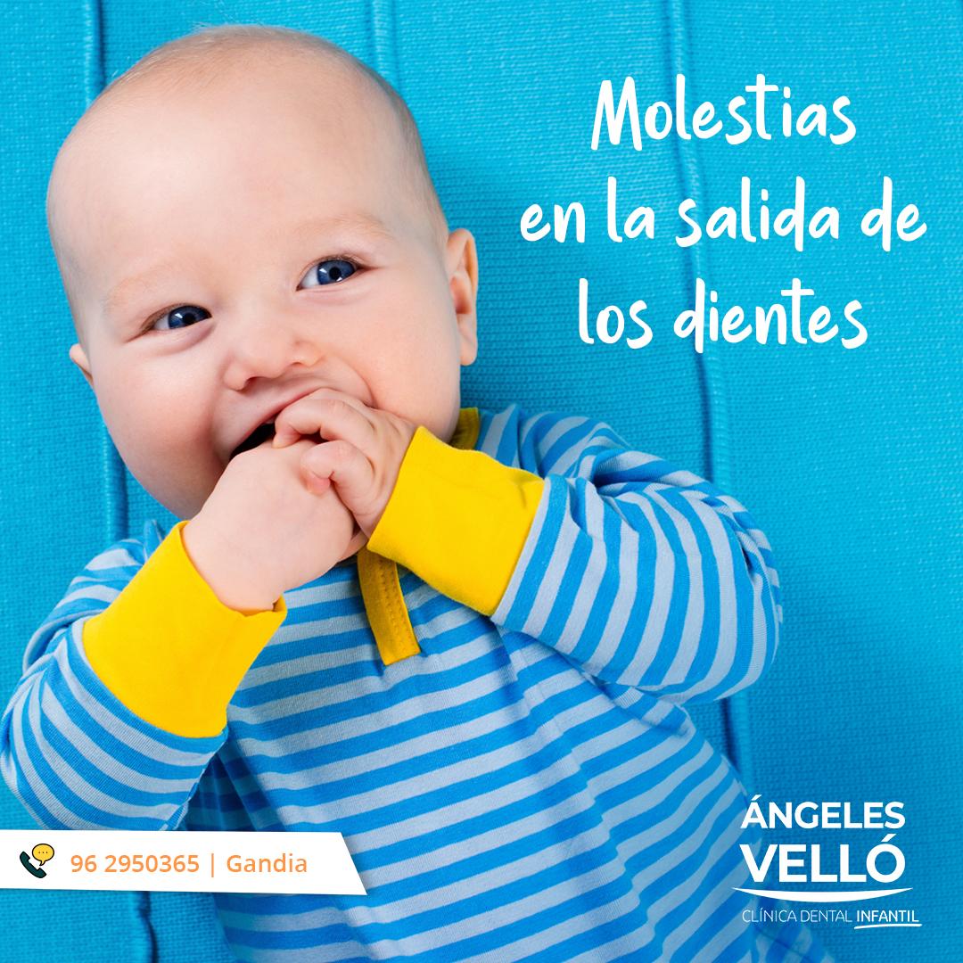 Molestias en la salida de los dientes en bebés