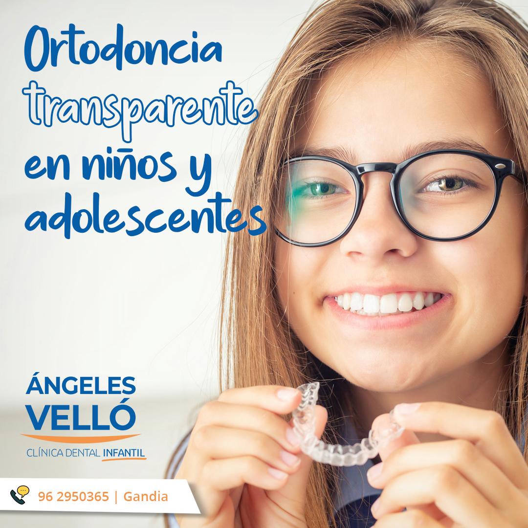 Ortodoncia transparente para niños y adolescentes