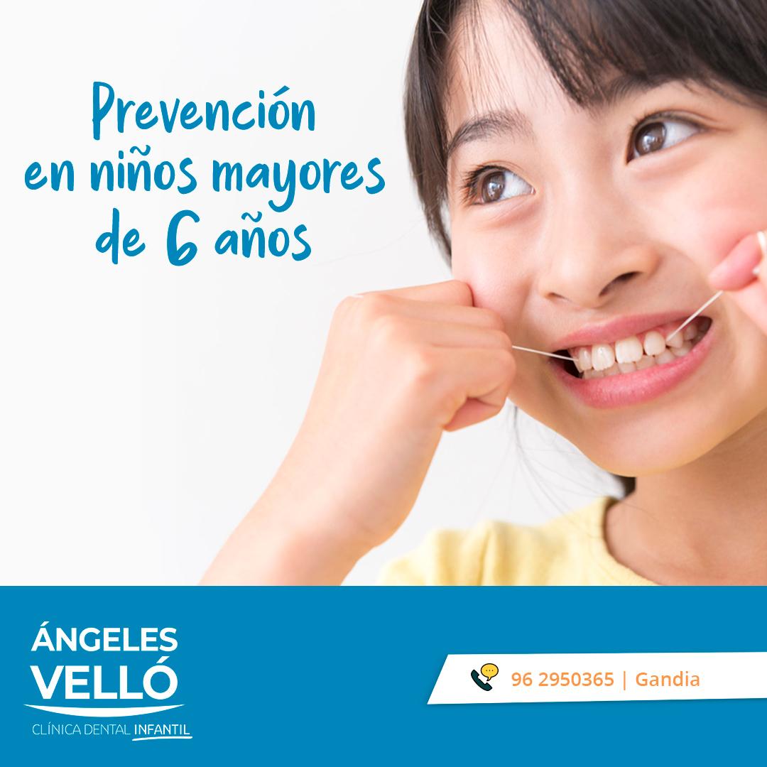 Prevención en niños de más de 6 años